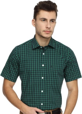 Balista Men,s Checkered Formal Green Shirt