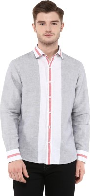 FUNK Men's Striped Casual Multicolor Shirt