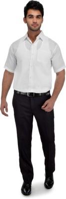 Gagan Enterprises Men's Solid Formal White Shirt