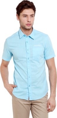 Classic Polo Men's Solid Casual Light Blue Shirt