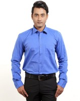 Banika Formal Shirts (Men's) - Banika Men's Solid Formal Dark Blue Shirt