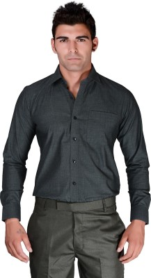 BlackLilly Men's Solid Formal Black Shirt