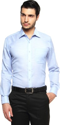 British Club Men's Solid Formal Blue Shirt