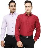 VKG Men's Solid Formal Multicolor Shirt ...