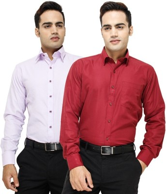 Regalfit Men's Solid Formal Multicolor Shirt