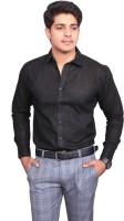 V.o Couture Formal Shirts (Men's) - V.O COUTURE Men's Solid Formal Black Shirt