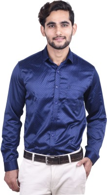 Cortos Men's Solid Formal Blue Shirt