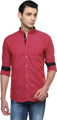 British Club Men's Solid Casual Red Shirt
