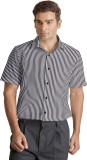 Willmohr Men's Striped Casual Black Shir...