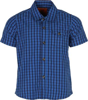 Silver Streak Boy's Checkered Casual Blue Shirt