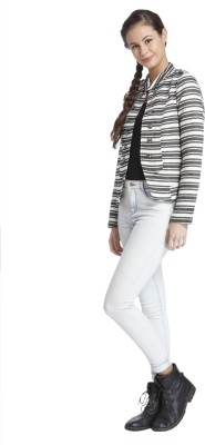 Only Striped Single Breasted Casual Women's Blazer