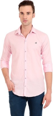 Camrick Men,s Solid Casual Pink Shirt