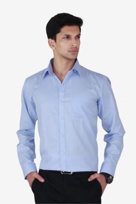 Cocablue Men's Solid Formal Light Blue Shirt