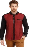 Spawn Men's Solid Casual Maroon Shirt