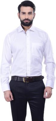 Alpha Centauri Men's Solid Casual White Shirt