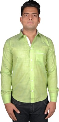 Favourite Men's Solid Casual Green Shirt