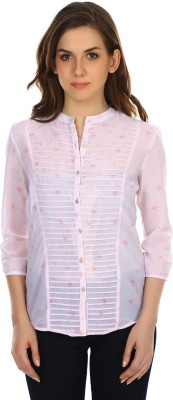 Colors Couture Women's Printed Casual Pink Shirt
