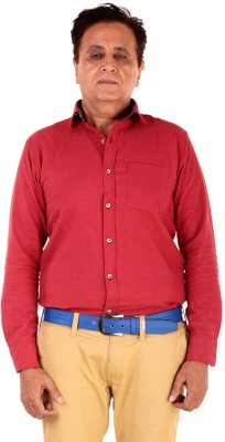 The G Street Men's Solid Casual Red Shirt