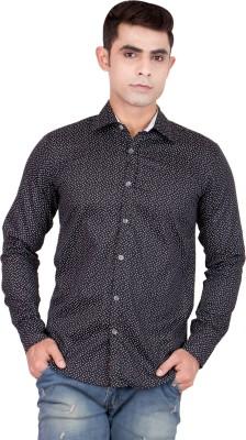 FDS Men,s Animal Print Casual Reversible Black Shirt