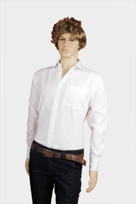 Eco-Solar Garments Men,s Solid Casual White Shirt