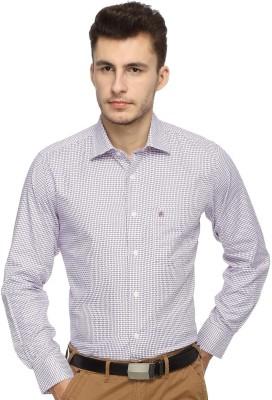 Balista Men,s Self Design Formal Pink Shirt