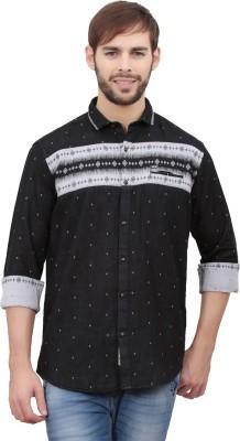 Volume Zero Men's Printed Casual Black Shirt