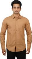 Hunter Formal Shirts (Men's) - Hunter Men's Self Design Formal Gold Shirt