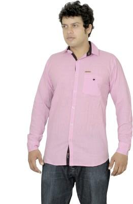 La Milano Men's Solid Casual Pink Shirt