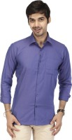 Acropolis Formal Shirts (Men's) - ACROPOLIS by Shoppers Stop Men's Solid Formal Purple Shirt