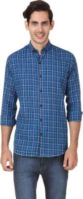 Smithsoul Men's Checkered Casual Blue Shirt