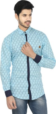 Perky Look Men's Printed Casual Blue, Blue Shirt