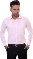 1almighty Formal Shirts (Men's) - 1Almighty Men's Solid Formal Pink Shirt