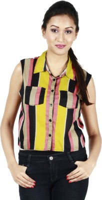 Kasturi Women's Striped Casual Shirt