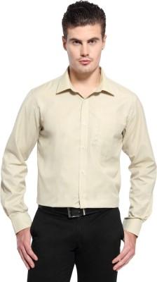 Fx Jeans Co Men's Solid Formal Beige Shirt