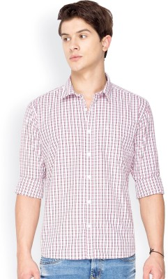 Mode Manor Men's Solid Casual White Shirt