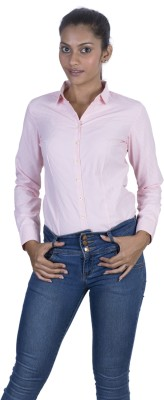 Elle Et Lui Womens Checkered Formal Pink Shirt