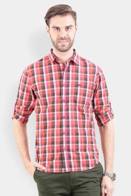 Crocodile Men's Checkered Casual Multicolor Shirt