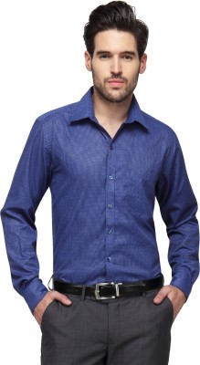 Copperline Men's Checkered Casual Blue Shirt