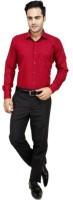 Fds Formal Shirts (Men's) - FDS Men's Solid Formal Maroon Shirt