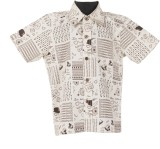 Le Luxe Boys Printed Casual White Shirt