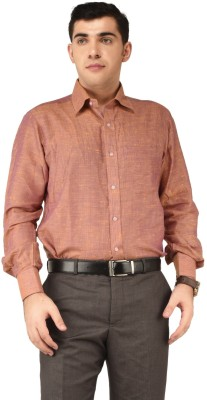 Alpha Centauri Men's Solid Casual Red Shirt