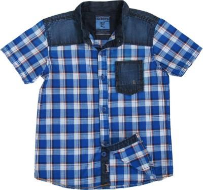 Ice Boys Boy's Checkered Casual Multicolor Shirt