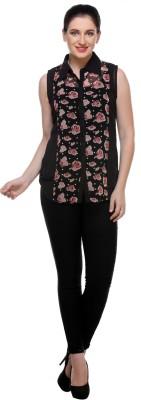 code 999 Women's Printed Casual Multicolor Shirt