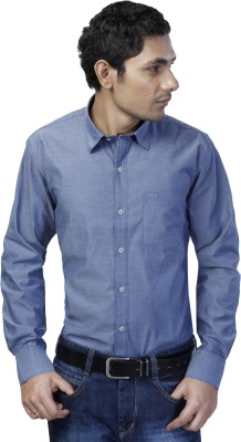 Spaky Men's Solid Casual Dark Blue Shirt