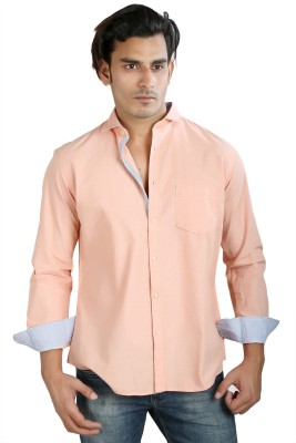 Faceman Men's Solid Casual, Festive, Lounge Wear, Party Pink Shirt