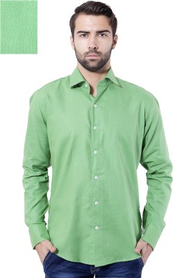 Tag & Trend Men's Solid Casual Green Shirt