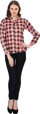 kellan Women's Checkered Lounge Wear Pink Shirt