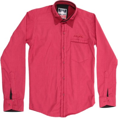 Anry Boy,s Solid Casual Red Shirt