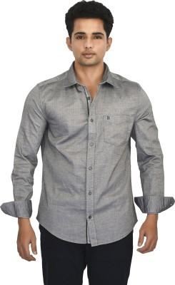 Hackensack Men's Solid Casual Grey Shirt