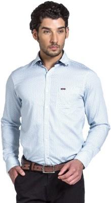 YOO Men's Self Design Casual White Shirt